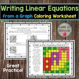 Writing Linear Equations from a Graph Coloring Worksheet