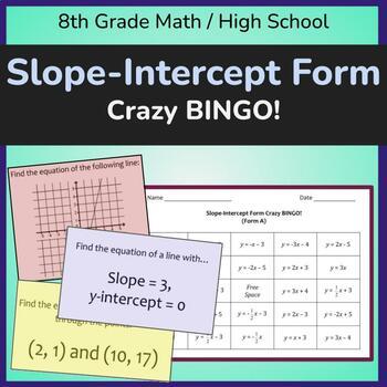 Slope Intercept Form Crazy BINGO