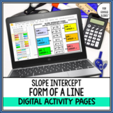 Slope Intercept Form Digital Activity Pages for Google Drive™