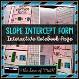 Slope Intercept Form Foldable Page