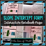 Slope Intercept Form Foldable Page