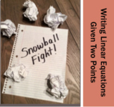 Slope Intercept Form Given Two Points Snowball Fight!