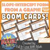 Slope-Intercept Form Given a Graph Boom Cards!