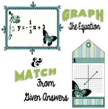 Slope-Intercept Form Graph and Match Task Cards