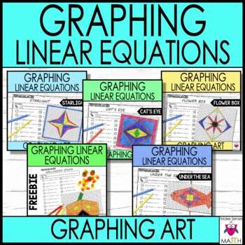 Slope-Intercept Form Graphing Art Bundle