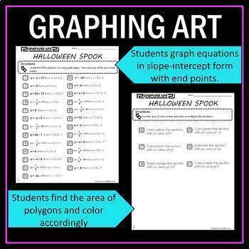Slope-Intercept Form Graphing Art Bundle