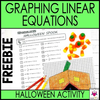 Slope-Intercept Form Graphing Art Halloween Spook