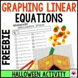 Slope-Intercept Form Graphing Art Halloween Spook
