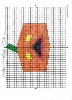 Halloween Math Activity - Graphing Linear Equations Activity FREE