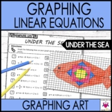 Graphing Linear Equations Slope-Intercept Form Graphing Art Under the Sea