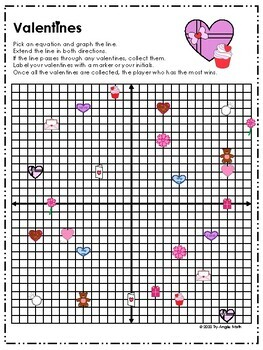 Slope-Intercept Form Graphing Games - Valentine's Day
