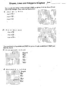 Slope Intercept Form Graphing Honors Double Sided Worksheet Algebra