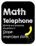 Slope Intercept Form  MATH TELEPHONE
