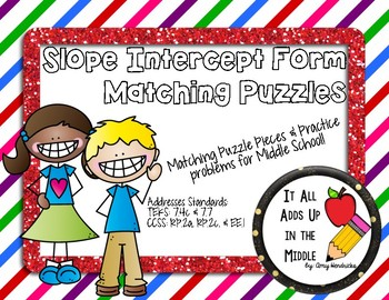 Slope Intercept Form Matching Activity & Assessment