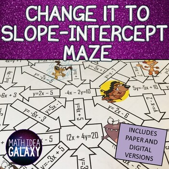 Slope Intercept Form Maze By Idea Galaxy Teachers Pay Teachers
