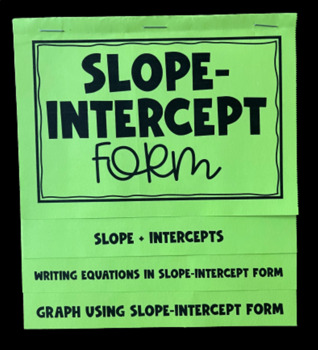 Slope- Intercept Form (Mega Foldable)
