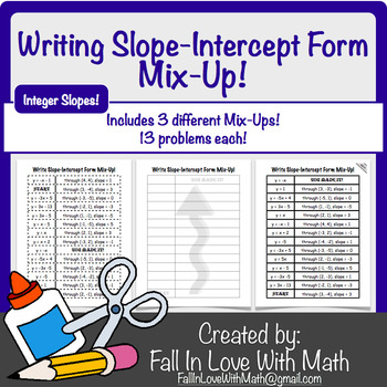 Slope Intercept Form Mix-Up! (Integer Slopes)