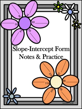 Slope Intercept Form Notes and Practice (Solving for Y)