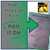 "Slope-Intercept Form: ""Pass It On"" Activity"
