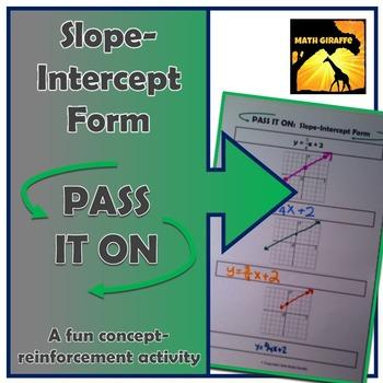 "Slope-Intercept Form: ""Pass It On"" Activity"