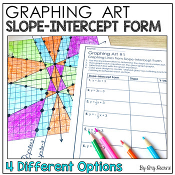 Graphing Equations In Slope Intercept Form Graphing Art Project