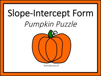 Slope Intercept Form Pumpkin Puzzle