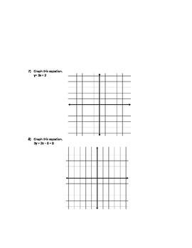 Slope Intercept Form Quiz