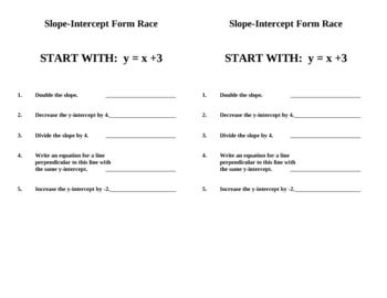Slope-Intercept Form Relays