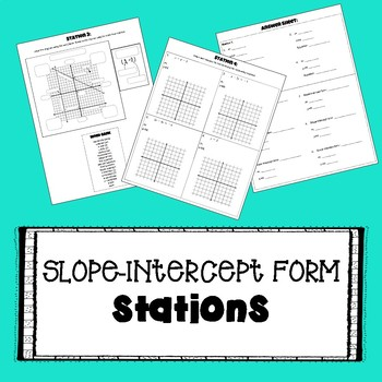 Slope-Intercept Form - STATIONS