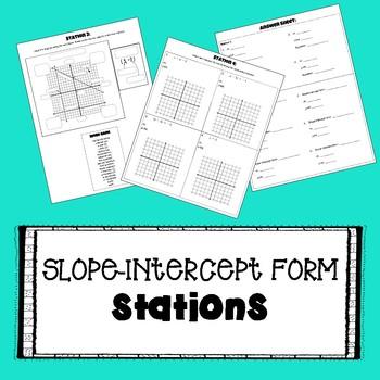 Slope-Intercept Form - STATIONS