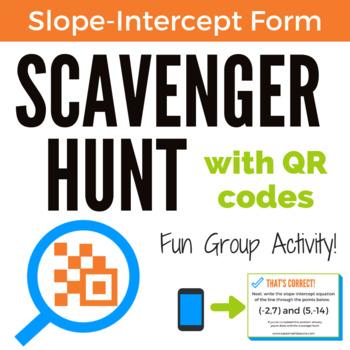 Slope-Intercept Form Scavenger Hunt