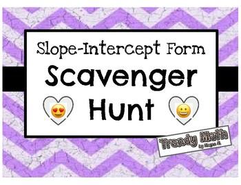 Slope-Intercept Form Scavenger Hunt with Emojis!