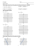 Slope Intercept Form Study Guide