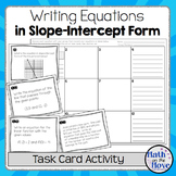 Writing Equations in Slope-Intercept Form - Task Card Activity