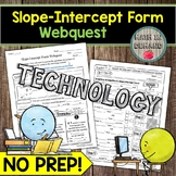 Slope-Intercept Form Webquest Math DISTANCE LEARNING