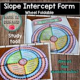 Slope-Intercept Form Wheel Foldable