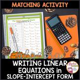 Thanksgiving Algebra Writing Slope Intercept Form given Any Equation