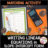 Thanksgiving Algebra Writing Slope Intercept Form given Any Equation