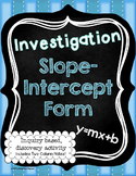 Slope-Intercept Form of a Line Investigation Activity and Notes