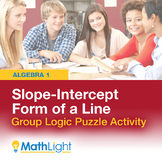 Slope-Intercept Form of a Line Group Logic Puzzle Activity