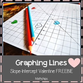 Slope Intercept Graphing Lines Valentine FREEBIE