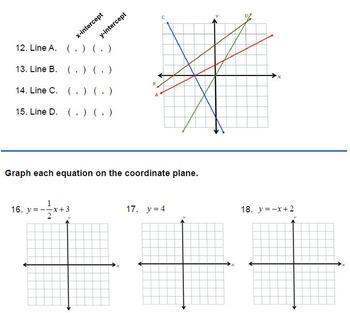 worksheet. Graphing In Slope Intercept Form Worksheet. Grass Fedjp ...