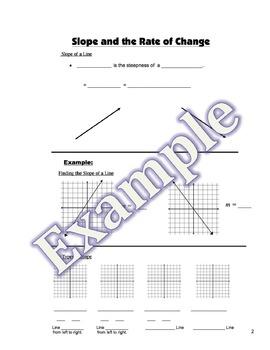 Slope Intercept Guided Notes, Homework, Powerpoint