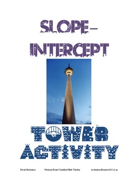 Slope Intercept Investigation Fun Activity Experiment Algebra Graphing Equations