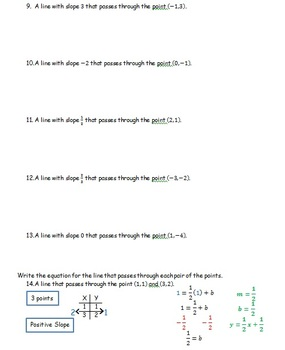 Slope Intercept Practice #1 CC 7.EE.4