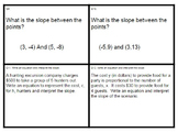 Slope Intercept, Proportional Equations and Interpreting Slope (8.EE.5, 8.EE.6)