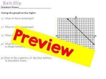 Slope Intercept Puzzle Pieces Activity