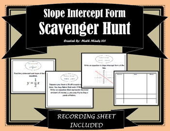 Slope Intercept Scavenger Hunt