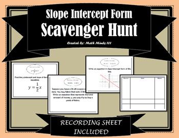 Slope Intercept Scavenger Hunt