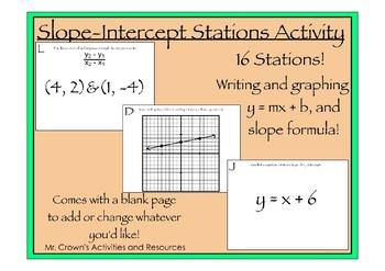 Slope Intercept Scavenger Hunt Activity